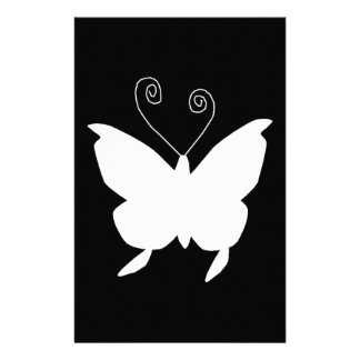 Diva Butterfly In White Customised Stationery