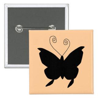 Diva Butterfly Pinback Button