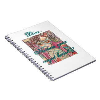 """Diva """"Cup Cake Hair""""...80 Page Spiral notebook"""