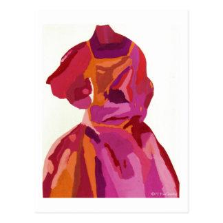 Diva Fashionista Autumn Reds Post Cards