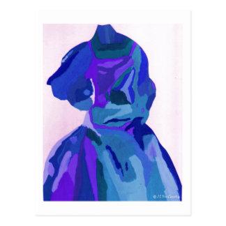Diva Fashionista In Blue I Postcard