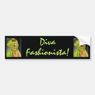 Diva Fashionista In Spring Car Bumper Sticker