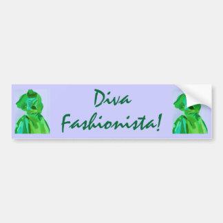 Diva Fashionista In Summer Car Bumper Sticker