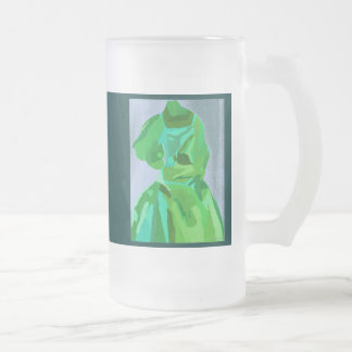Diva Fashionista In Summer Frosted Glass Mug