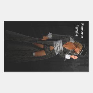 Diva Gangster Femme Fatale Rectangular Sticker