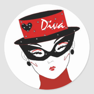 Diva I Sticker Stickers