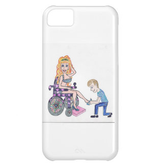 Diva in a wheel-chair with her Man at her feet iPhone 5C Case