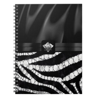 Diva Silk Zebra Diamond Notebooks