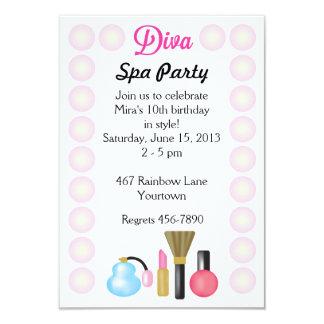 """Diva Spa Party Invitations 3.5"""" X 5"""" Invitation Card"""