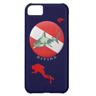 dive flag shark iPhone 5C case