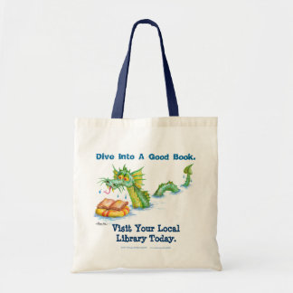 Dive Into A Good Book Canvas Bags