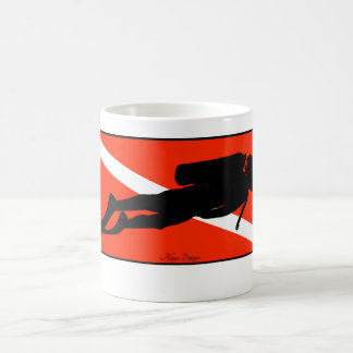 Diver dive flag coffee mug