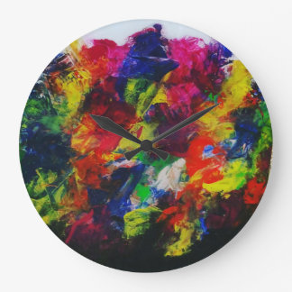 """""""Divergent"""" bright abstract clock"""