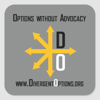 Divergent Options Sticker