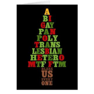 Diversity Christmas Tree Text Card