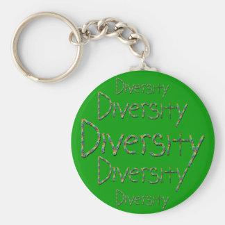 Diversity in Words Keychain