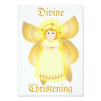 Divine Christening Invitation-Customize Card