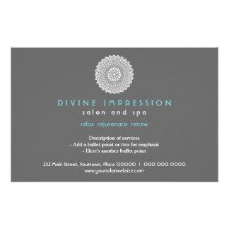 Divine Cyan Impression Horizontal 14 Cm X 21.5 Cm Flyer