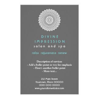 Divine Cyan Impression Vertical Full Color Flyer