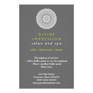 Divine Green Impression Vertical 14 Cm X 21.5 Cm Flyer