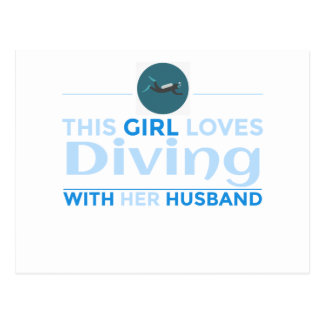 diving_husband postcard