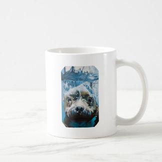 Diving pitbull design coffee mug