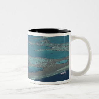 Diving platforms near reef, Great Barrier Two-Tone Coffee Mug