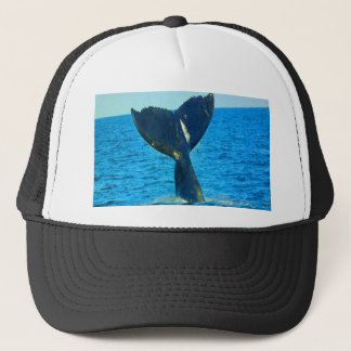 Diving to love ocean humpback whales trucker hat