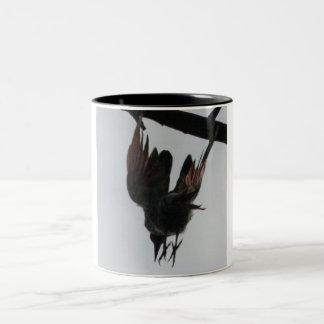 Diving Woodpecker Two-Tone Coffee Mug