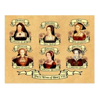 Divorced, Beheaded, DIed... Wives of Henry VIII Postcard