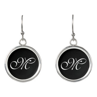 DIY - Add your own sign, name, color & monogram Earrings