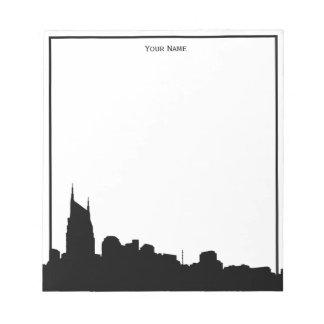 DIY BG Nashville Skyline Silhouette Notepad