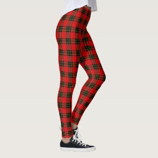 DIY BG Red Black Tartan Plaid Leggings