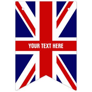 DIY British Union Jack Flag Party Bunting Banner