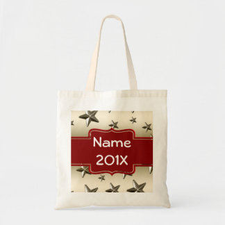 DIY Create Your Own Personalized Gold Stars Tote Bag