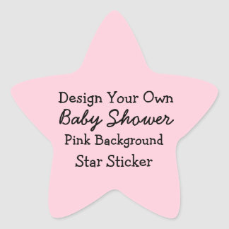 DIY Design Your Own Pink Baby Shower Favor Sticker