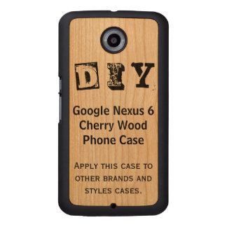 DIY - Google Nexus 6 Cherry Wood Case