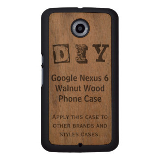 DIY - Google Nexus 6 Walnut Wood Case