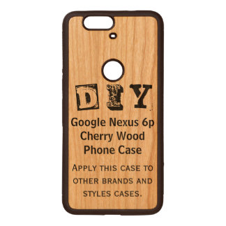 DIY - Google Nexus 6p Cherry Wood Case