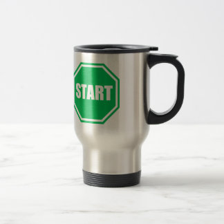 DIY St Patrick s Day Green party START sign Coffee Mug