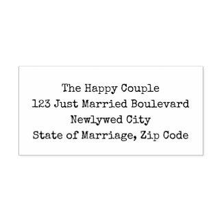 DIY Wedding Return Address Simple Typewriter Style Self-inking Stamp