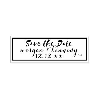 DIY Wedding Save The Date Self Inking Stamp