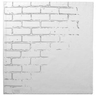 DIY White Brick Wall to write Graffiti Napkin