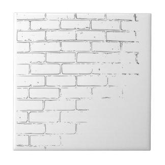 DIY White Brick Wall to write Graffiti Small Square Tile