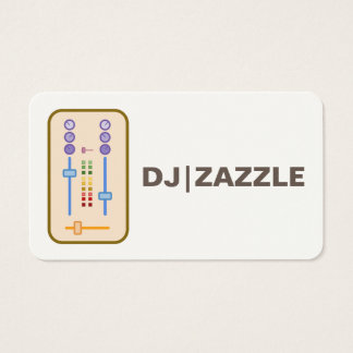 3000 dj business cards and dj business card templates zazzle dj business cards 2016 reheart Choice Image