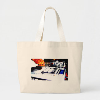 DJ Equipment (CDs) Large Tote Bag
