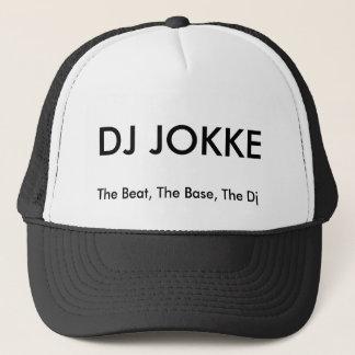 DJ Jokke Hat. Black, white Trucker Hat