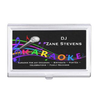 DJ Karaoke Business Card Holder