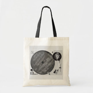 DJ Turntable Tote Bag