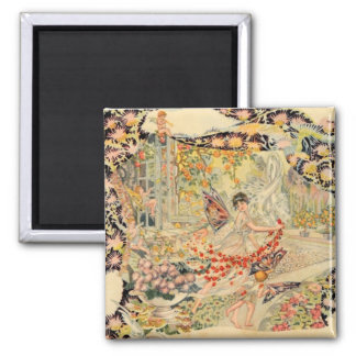 Djer Kiss French Perfume Label Square Magnet